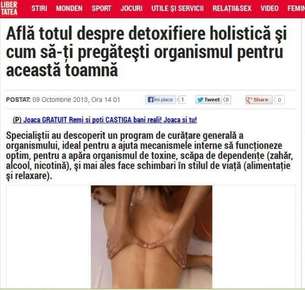 Libertatea - detoxifierea holistica