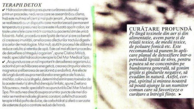 scan revista Elle - Terapii detox